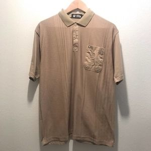 VERSACE Collection Tan Patterned Polo Shirt SZ 54
